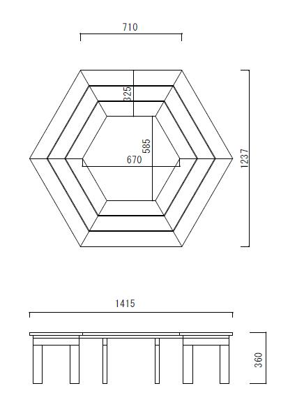 サークルベンチ図面