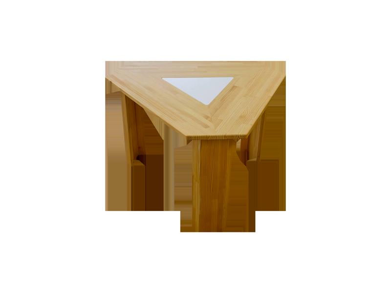 三角テーブル Smile60° Sサイズ ナチュラル