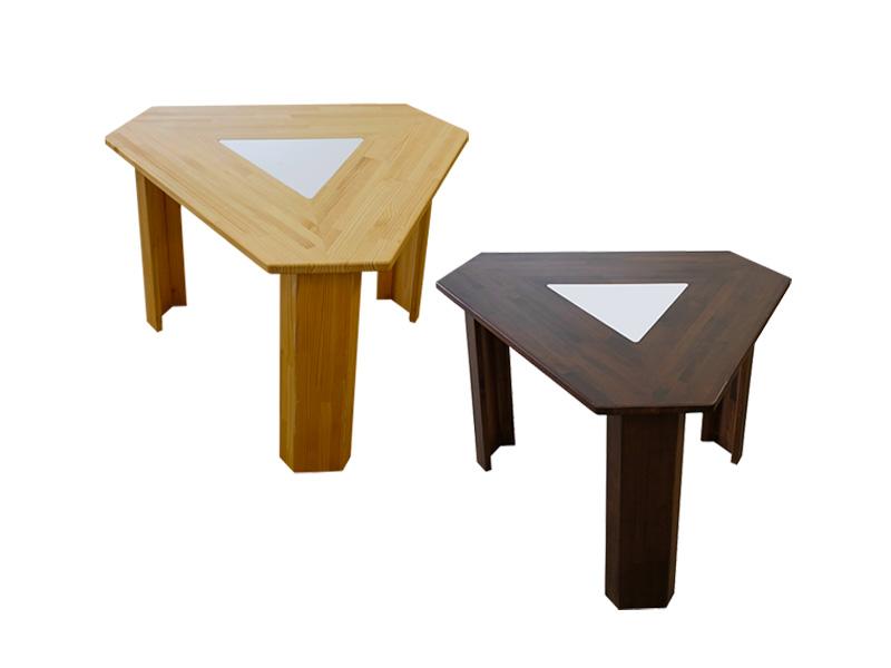 三角テーブル Smile60° Mサイズ ナチュラル / ダーク2色