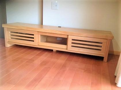 テレビボード タモ無垢材