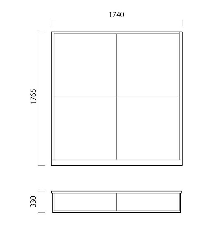 畳ユニット2畳の図面