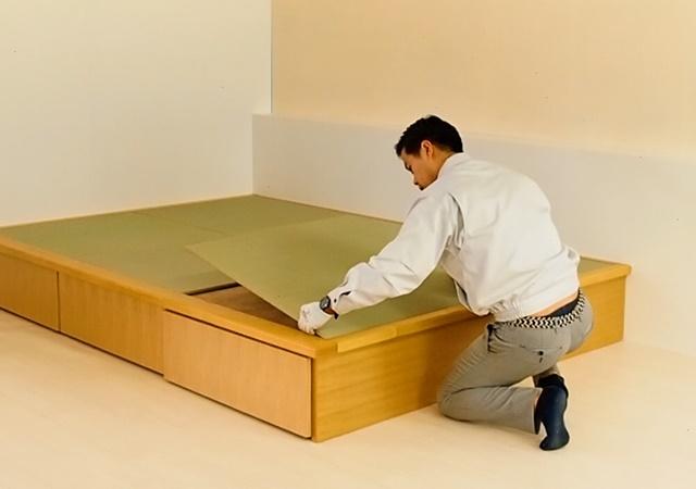 畳ユニットの設置