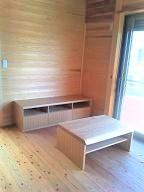 テレビボード&センターテーブル タモ